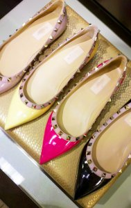 Fashion foward shoes & bags have been stand out sellers for all ages. (Valentino Rockstud Ballet Flat)