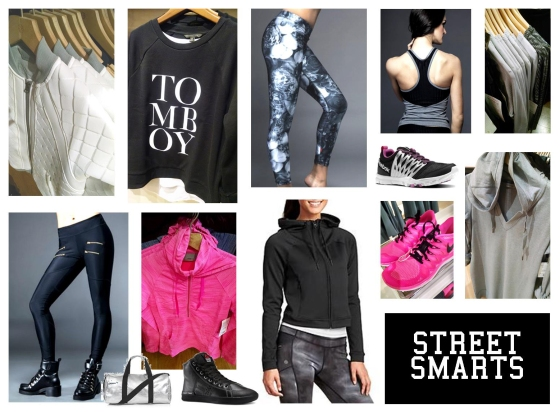 Edgy, urban styling is trending in athletic apparel.