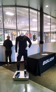 The ice rink inside the Bauer store